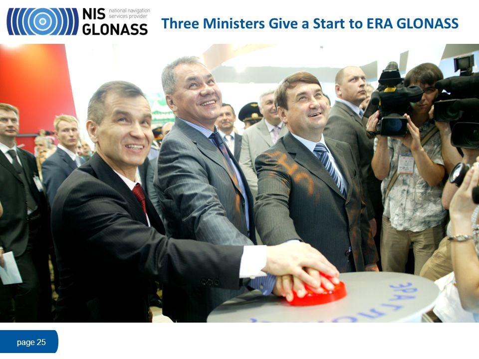 Three Ministers Give a Start to ERA GLONASS page 25