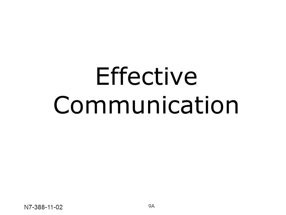 N7-388-11-02 Effective Communication 9A
