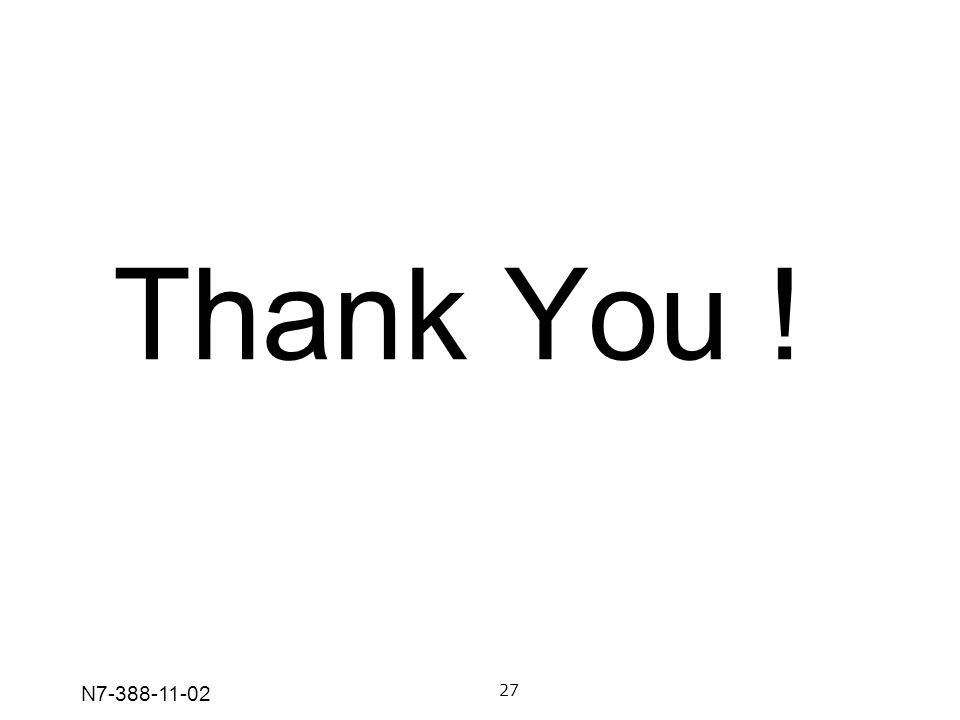 N7-388-11-02 Thank You ! 27