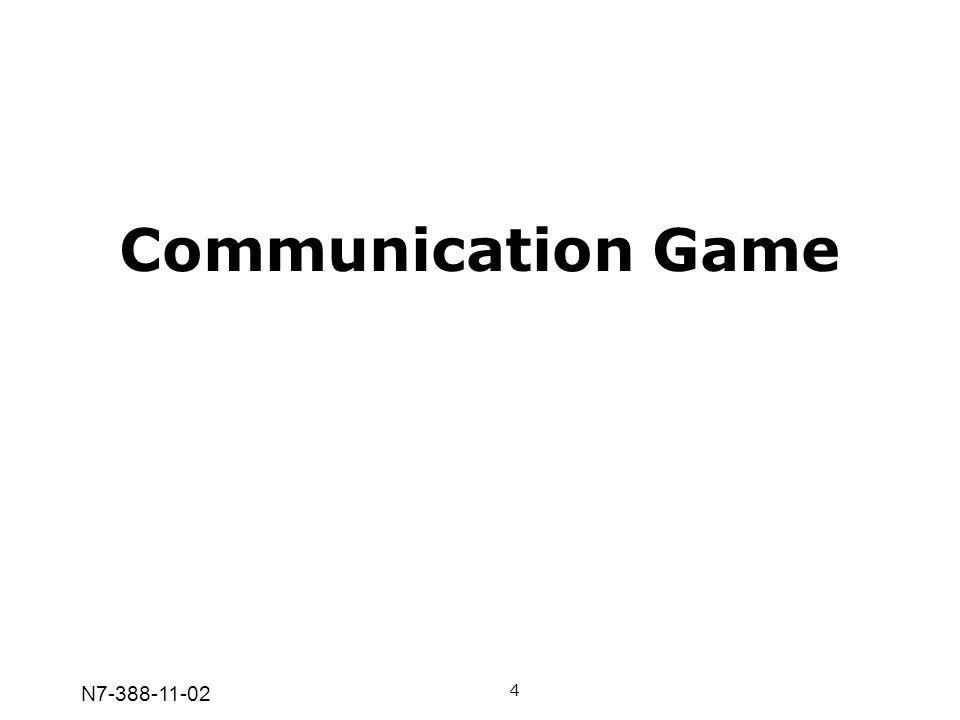 N7-388-11-02 Communication Game 4