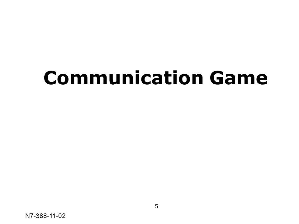 N7-388-11-02 Communication Game 5