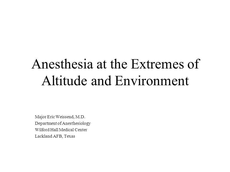 Inhaled Anesthesia and Heat Narkomed M: Currently the Air Force standard anesthesia machine for field anesthesia operations.