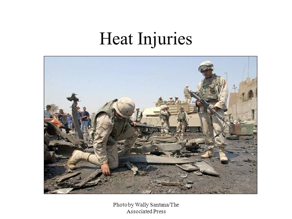 Photo by Wally Santana/The Associated Press Heat Injuries