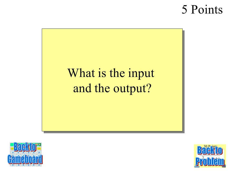 In a function, the domain is the set of _______values, and the range is the set of _______values 5 Points 1-5Q