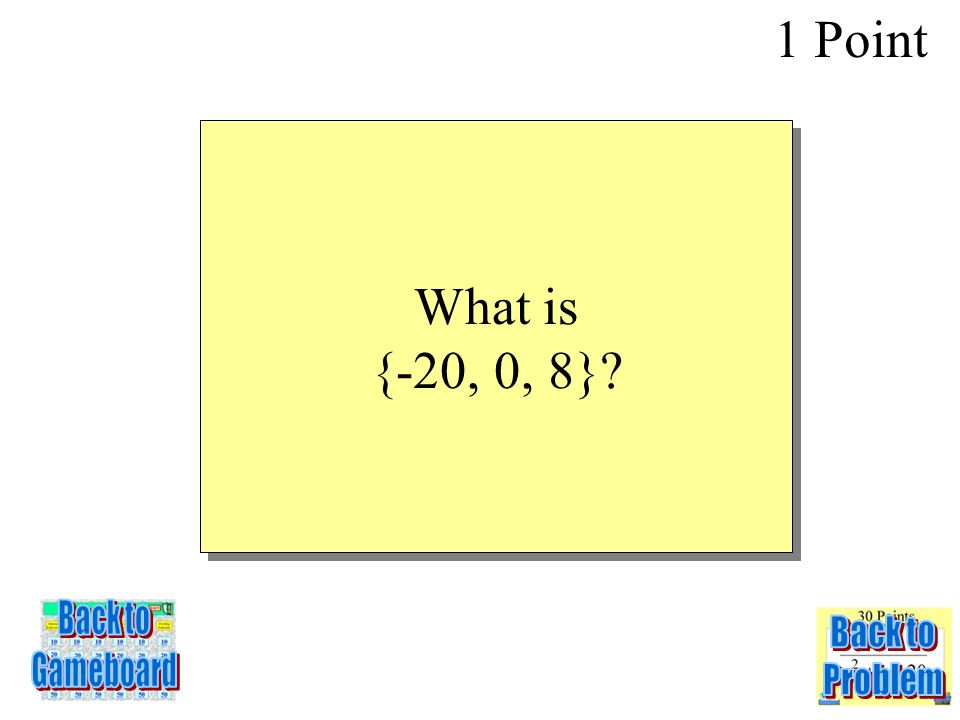 Find the range when the domain is {-2,0,5} for the equation y = -4x 1 Point 2-1Q