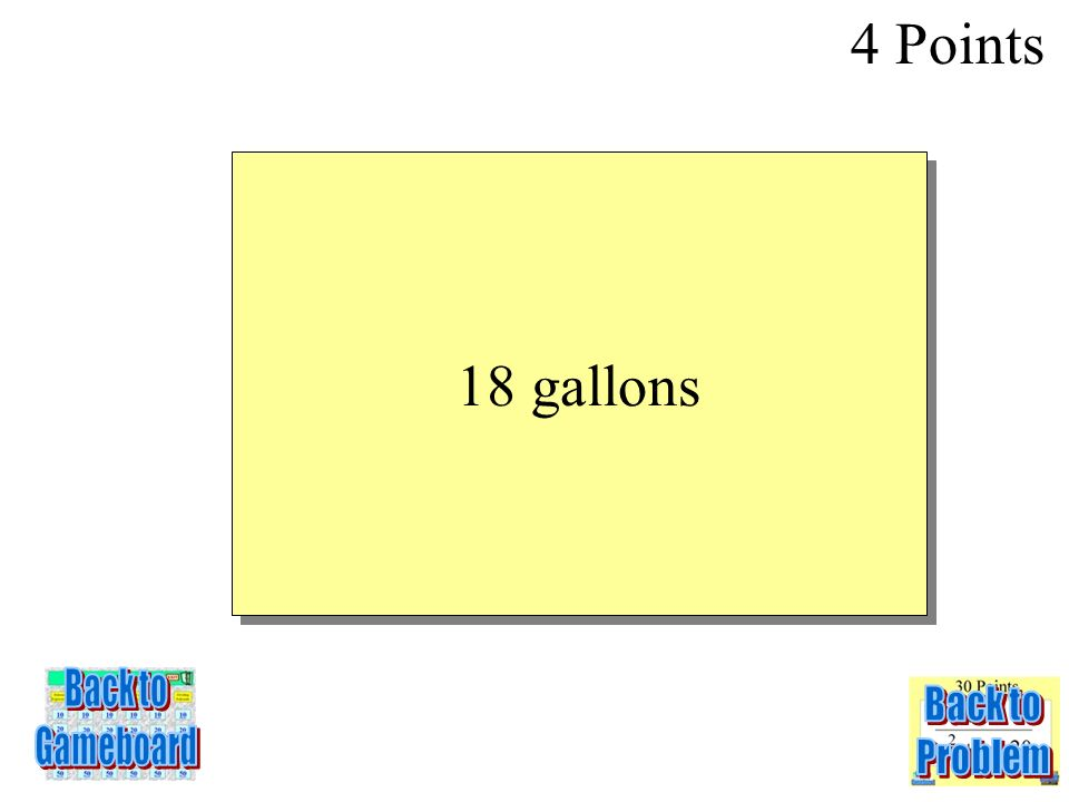 4 Points 3-4Q The equation w = 6m models the gallons of water w used by a standard shower head for a shower that takes m minutes. The function w = 3m
