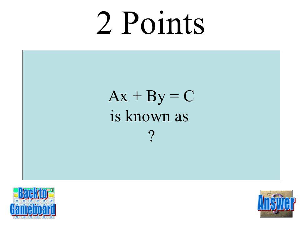 slope intercept form 1 point 6-1A