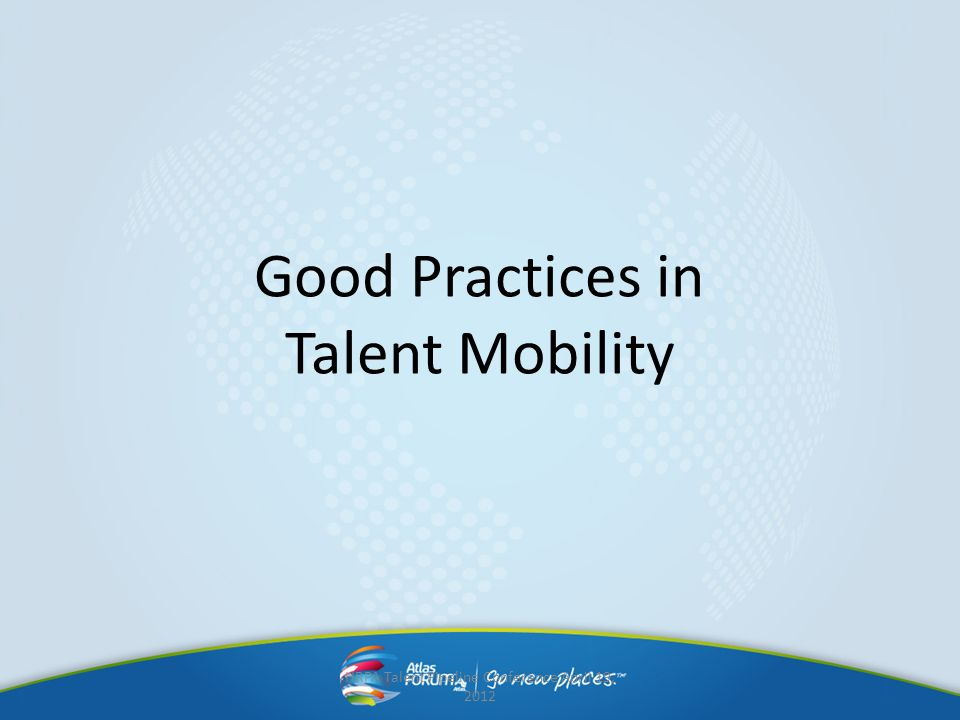 Good Practices in Talent Mobility