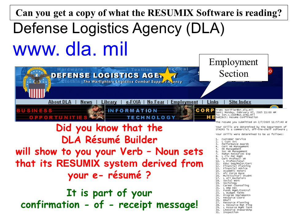 Defense Logistics Agency (DLA) www. dla.