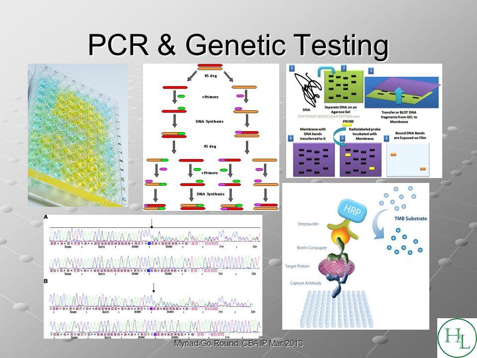 Myriad-Go-Round, CBA IP Mar 2013 PCR & Genetic Testing