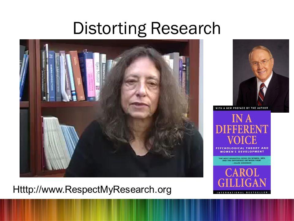 Distorting Research Htttp://www.RespectMyResearch.org