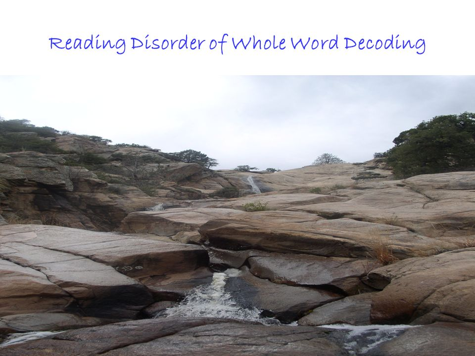 All Rights ReservedKevin T. Blake, Ph.D., P.L.C.2 Reading Disorder of Whole Word Decoding