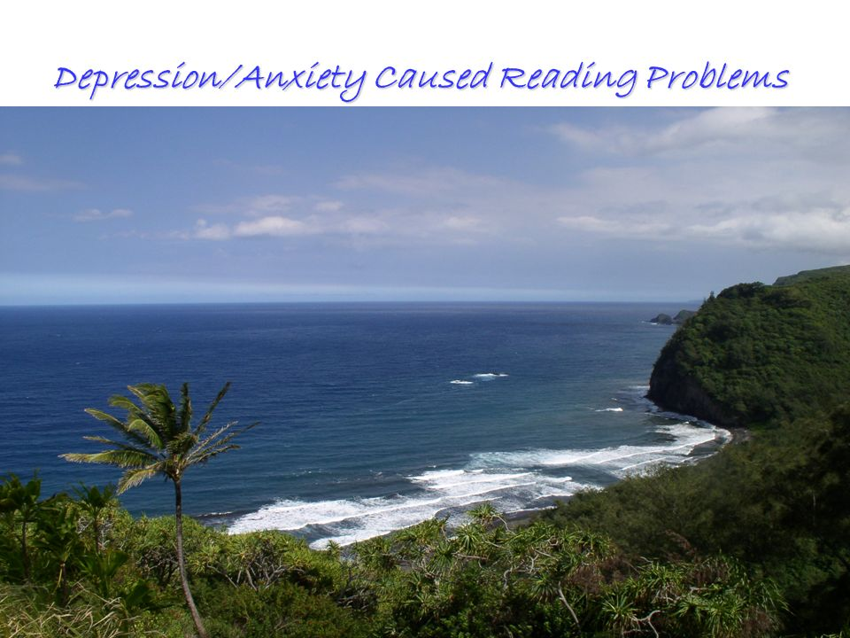 All Rights ReservedKevin T. Blake, Ph.D., P.L.C.80 Depression/Anxiety Caused Reading Problems