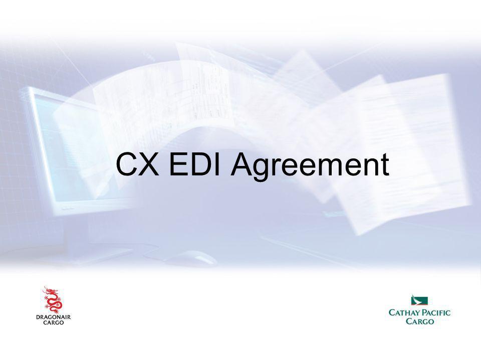 CX EDI Agreement