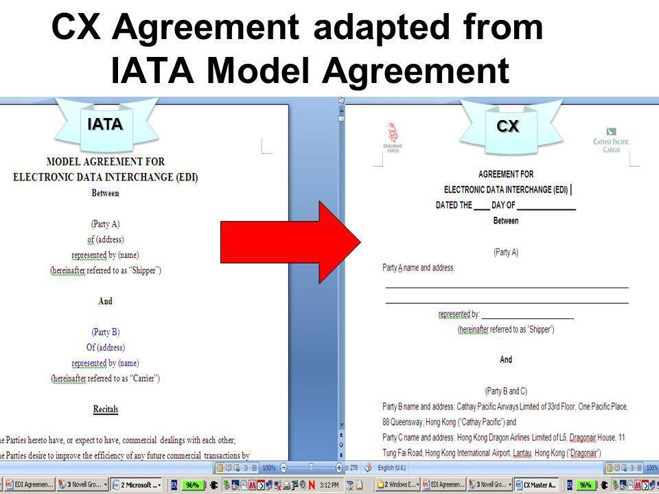 IATAIATA CX CX Agreement adapted from IATA Model Agreement