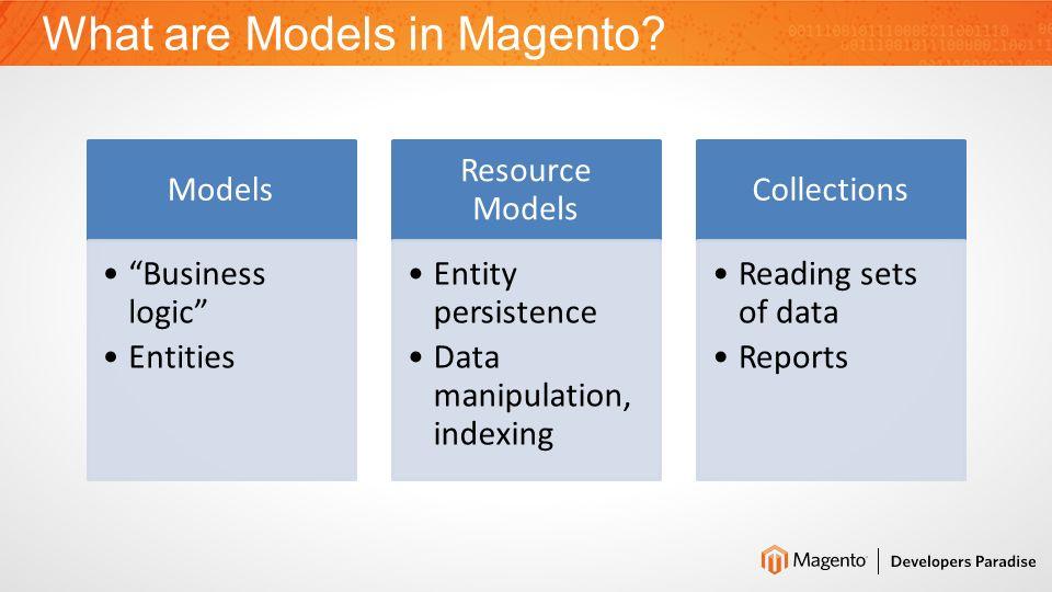 Application Models Design 2.MODELS DESIGN IN MAGENTO Backwards Compatibility