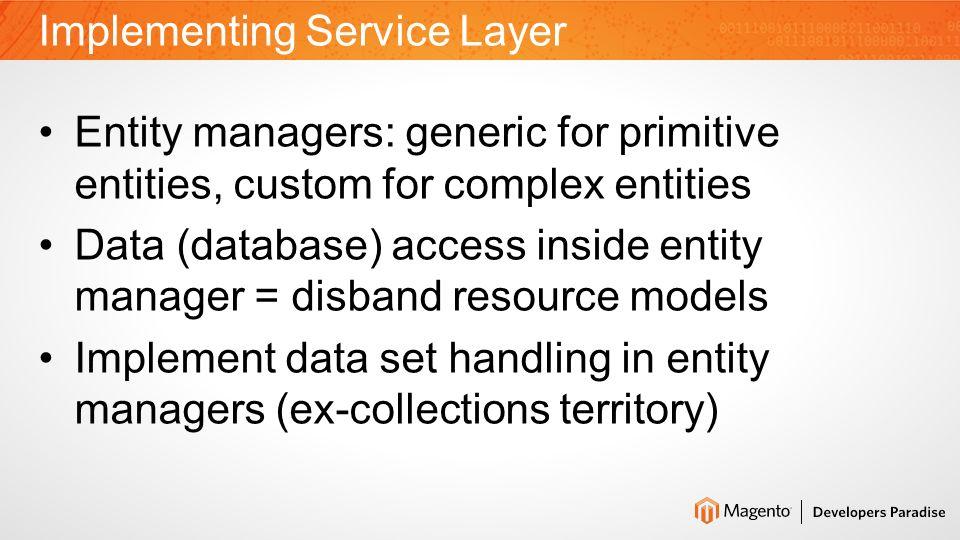 Memento Pattern for Entities Data