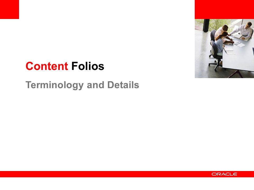 Content Folios Terminology and Details