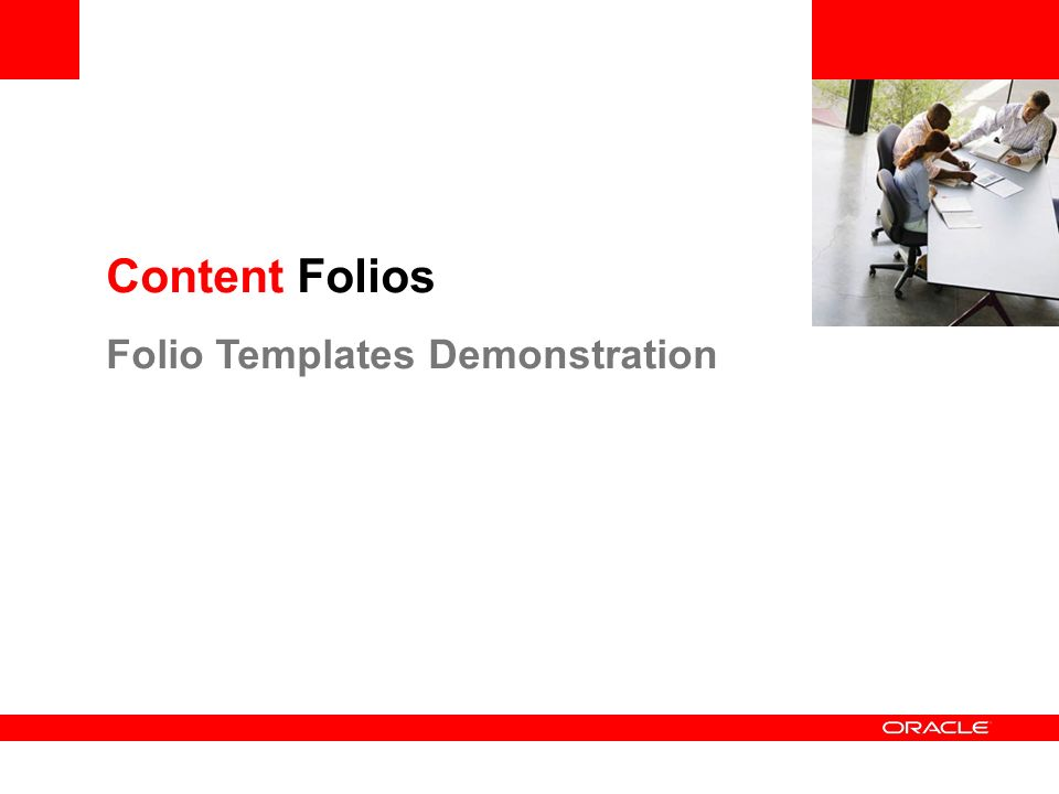 Content Folios Folio Templates Demonstration