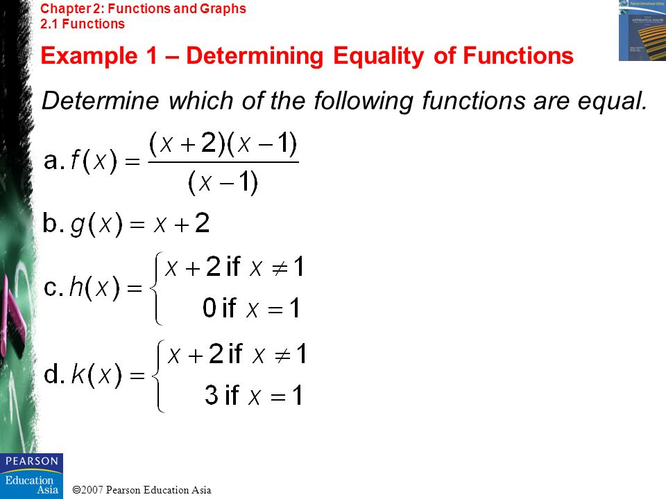 2007 Pearson Education Asia Chapter 2: Functions and Graphs 2.6 Symmetry Example 3 – Graphing with Intercepts and Symmetry Solution: Replace y with –y, not equivalent to equation.