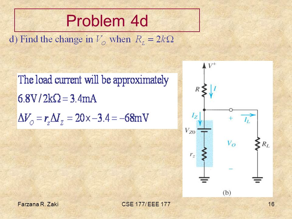 Farzana R. ZakiCSE 177/ EEE 17716 Problem 4d
