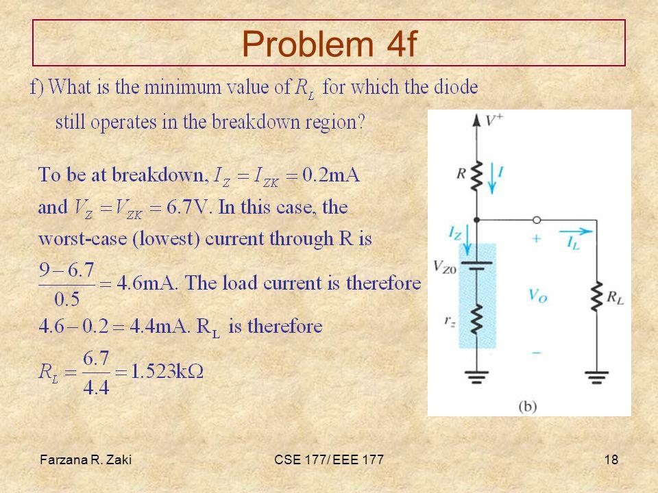 Farzana R. ZakiCSE 177/ EEE 17718 Problem 4f