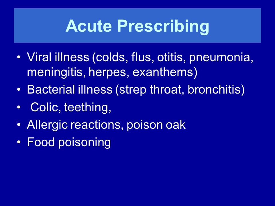 Dosage in Acute Prescribing Low Potency (6, 12, 30 X or C) Repeat q 3hr until symptoms change Stop, wait, re-evaluate Prescribe second remedy if needed High Potency (200, 1M) single dose Observe for change