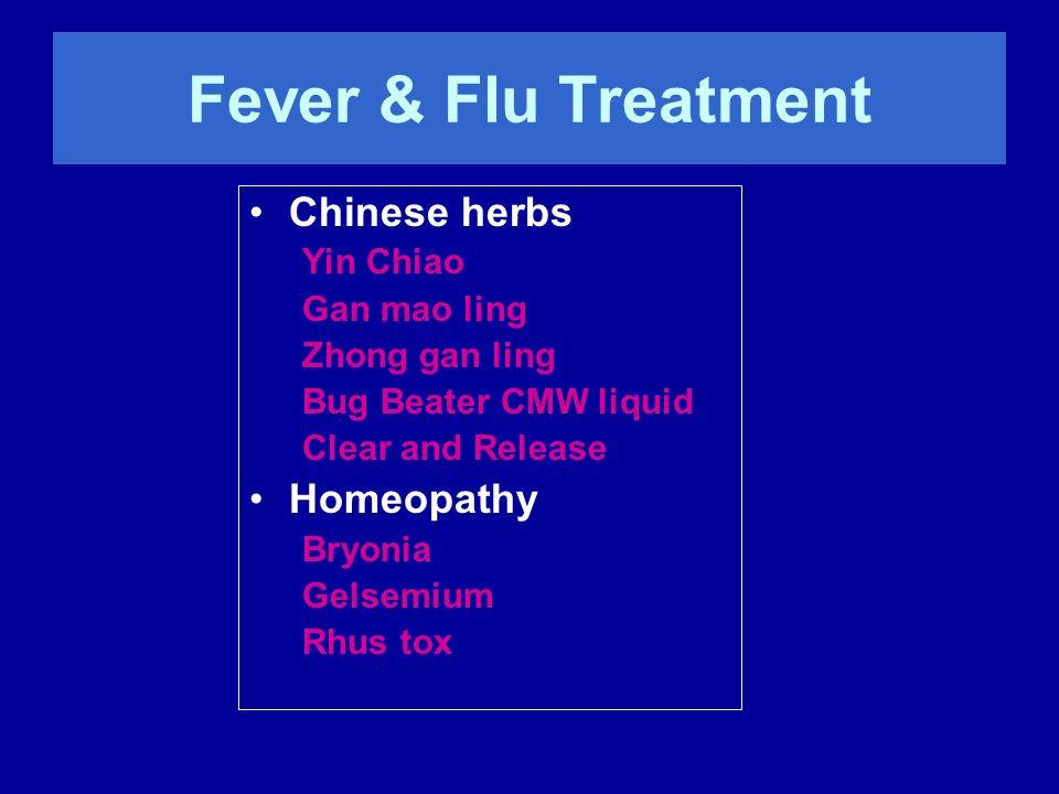 Chinese Herbs for Flu –Yin Chiao Pediatric liquids –Windbreaker (CMW) –Childrens Clear and Release (GF)
