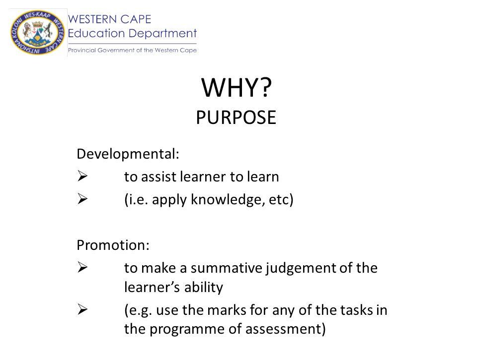 WHO Teacher (formal assessment task e.g.