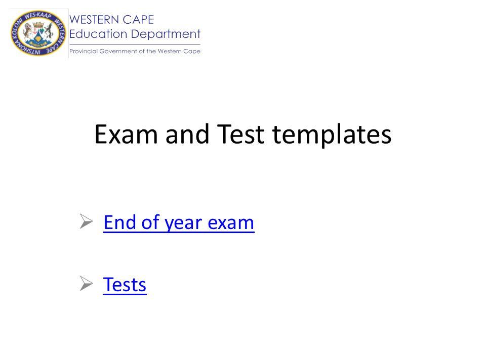 The 7 Formal Assessment Tasks 5 tests 1 project / investigation June examination Final examination Or 4 tests 1 assignment 1 project / investigation June examination Final examination