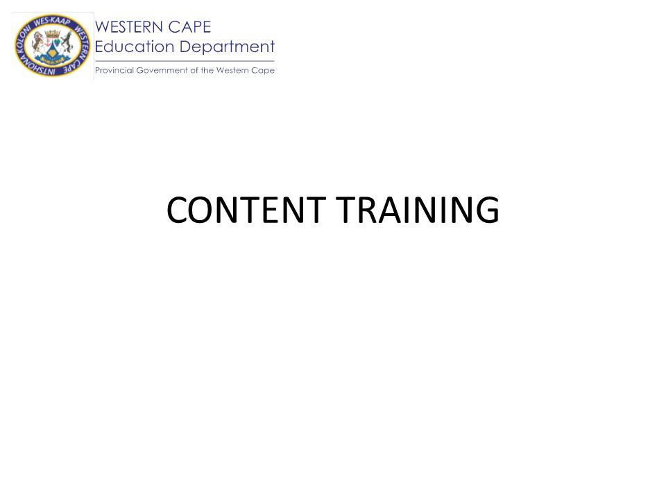 IN GENERAL Each content area has been broken down into topics.