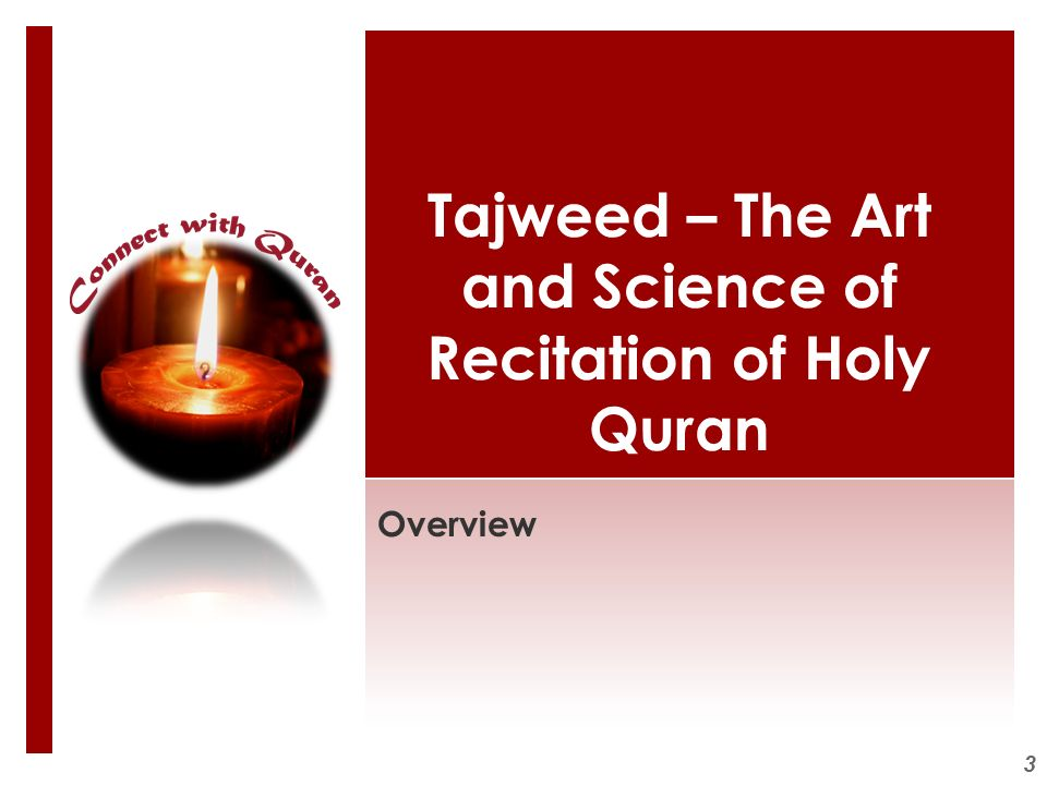 3 Tajweed – The Art and Science of Recitation of Holy Quran Overview
