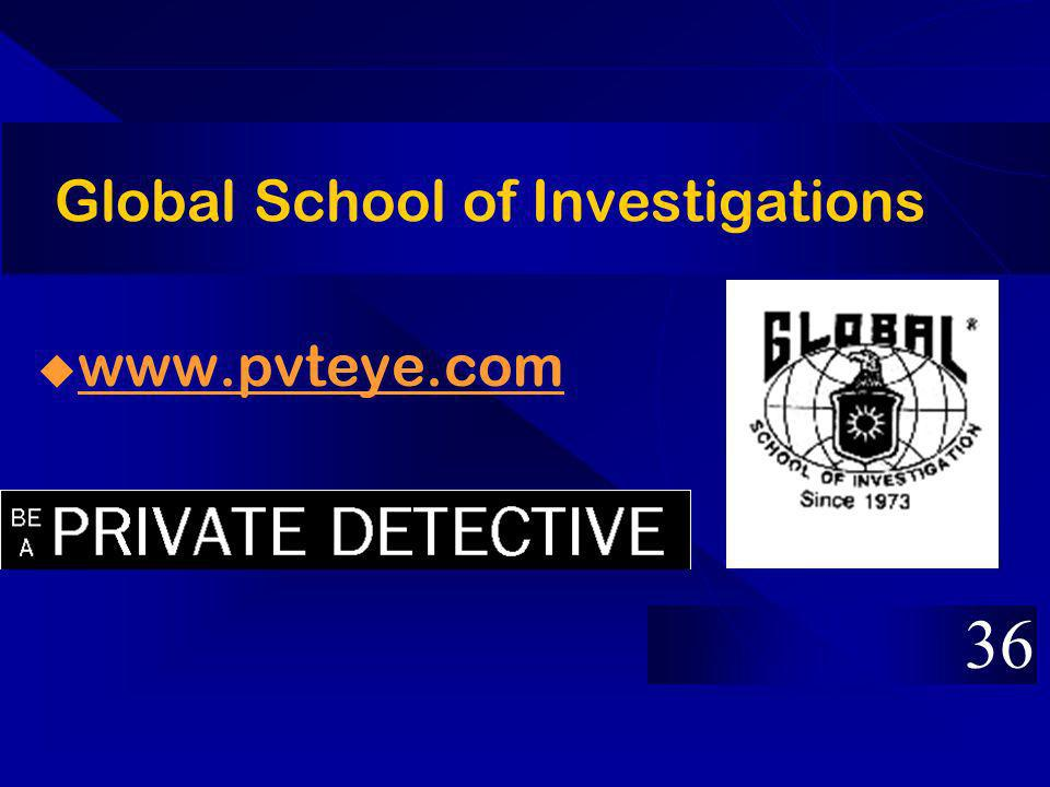 Global School of Investigations www.pvteye.com 36