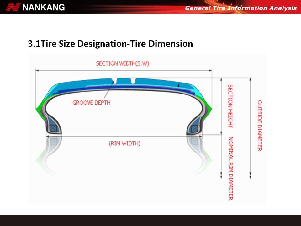 3.1Tire Size Designation-Tire Dimension