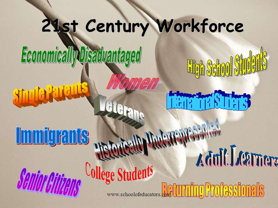 21st Century Workforce www.schoolofeducators.com