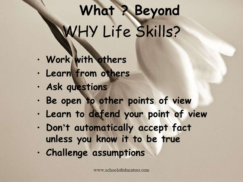 Work with others Learn from others Ask questions Be open to other points of view Learn to defend your point of view Don t automatically accept fact unless you know it to be true Challenge assumptions What .