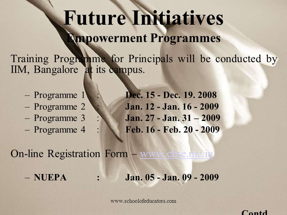Training Programme for Principals will be conducted by IIM, Bangalore at its campus.