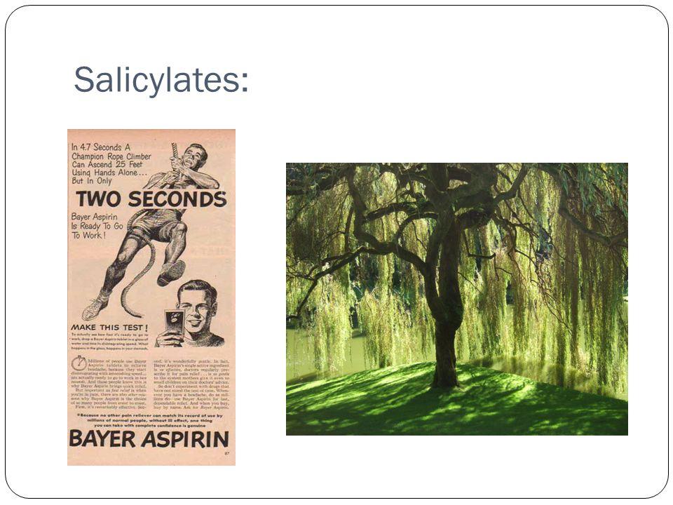 Salicylates:
