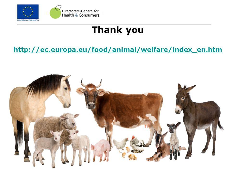 14 Thank you http://ec.europa.eu/food/animal/welfare/index_en.htm