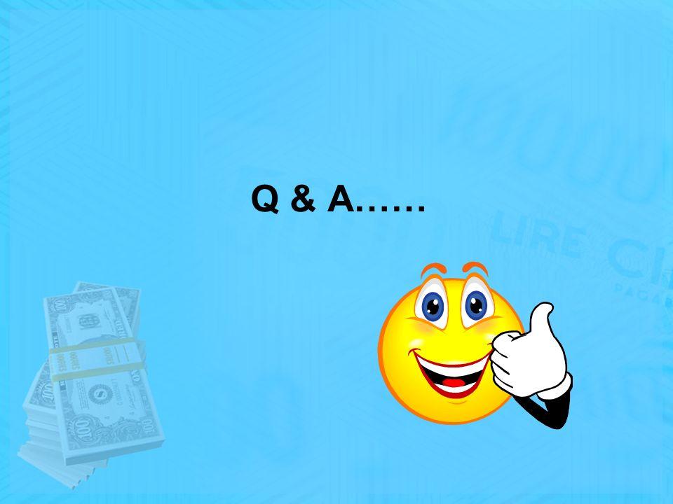 Q & A……