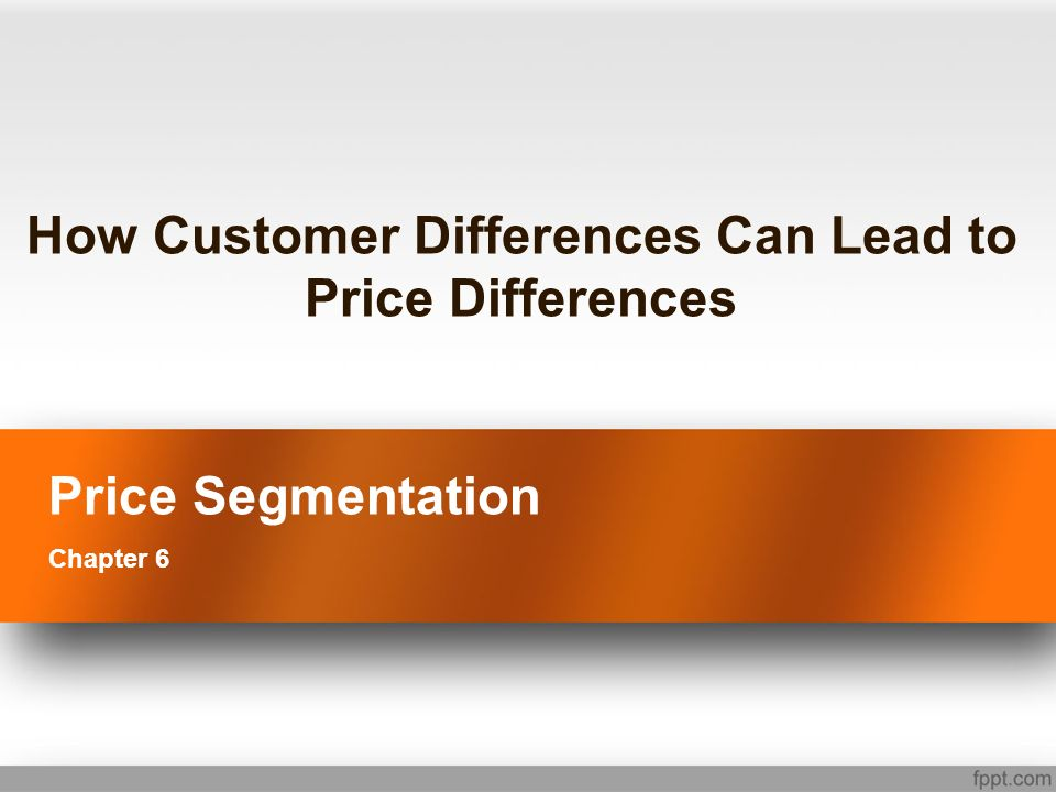 Strategic or Tactical Tactical price segmentation approaches are those that are used to capture marginal and sometimes even specific customers in unique situations Strategic price segmentation approaches are those in which the definition of the price structure itself enables different customers to pay different price