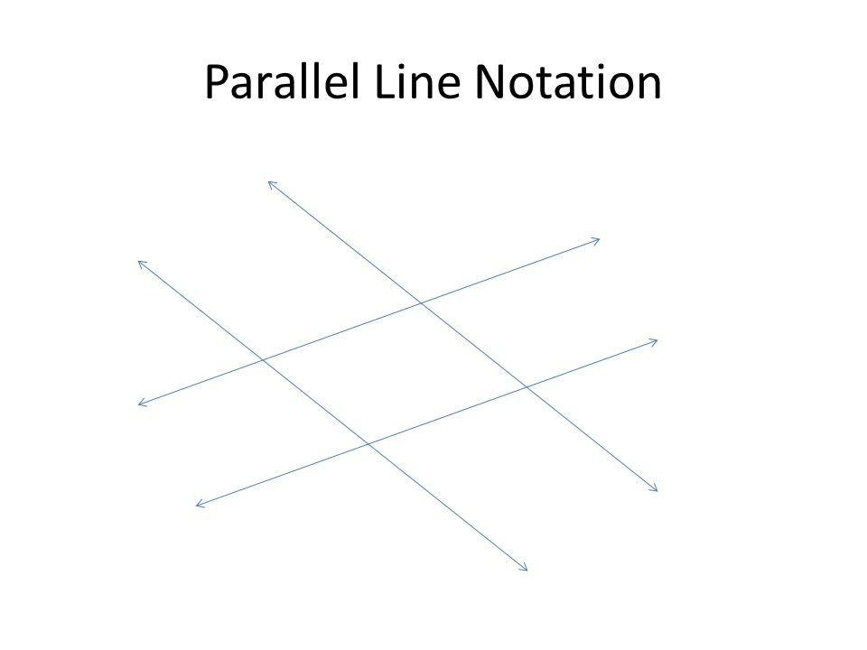 Parallel Line Notation