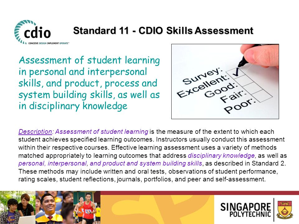 Description: Assessment of student learning is the measure of the extent to which each student achieves specified learning outcomes. Instructors usual