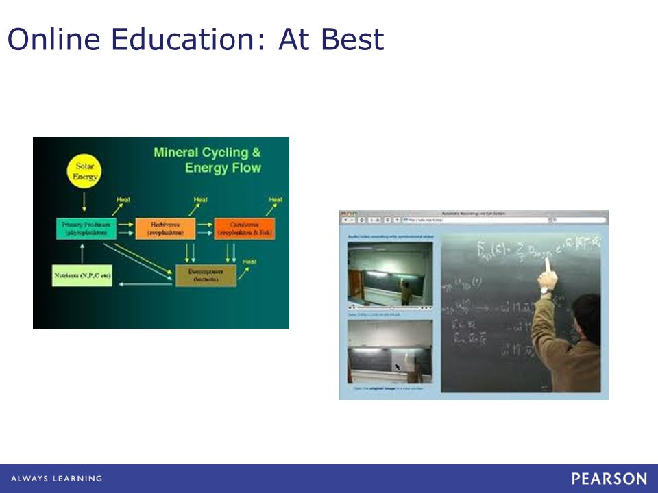 Online Education: At Best
