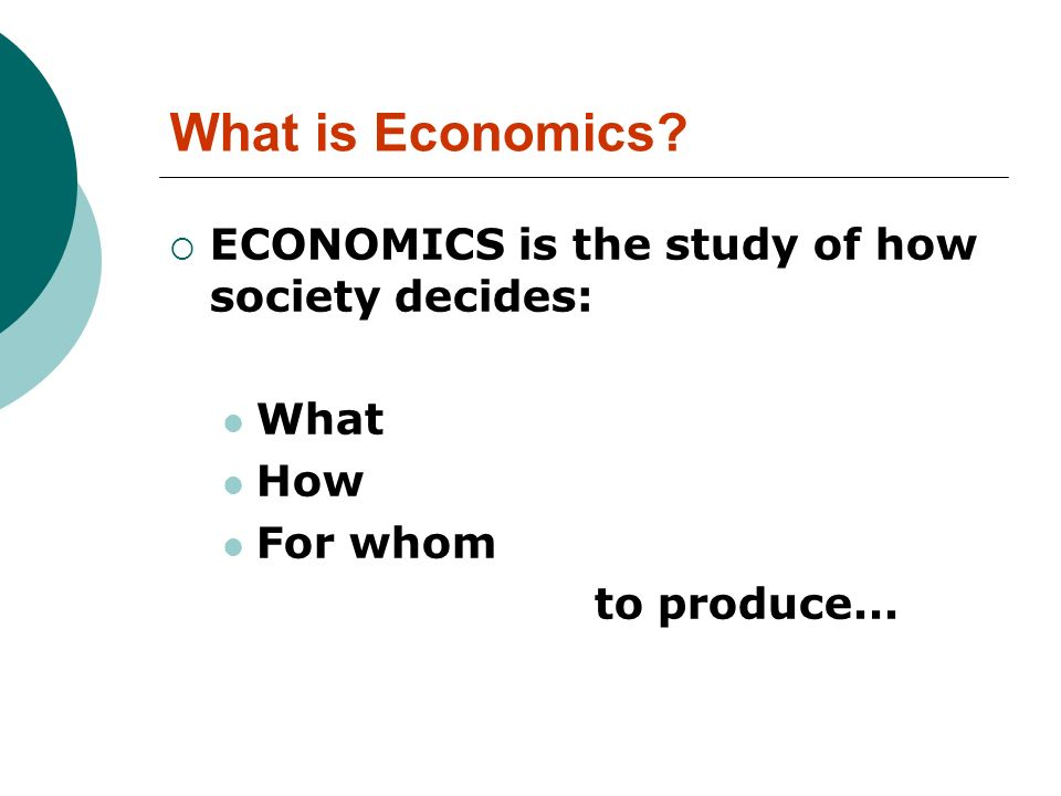 Why use Economics in Management.