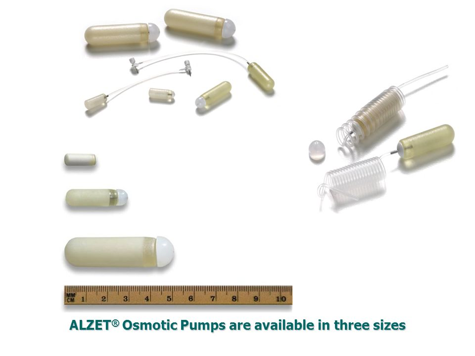 ALZET ® Osmotic Pumps are available in three sizes