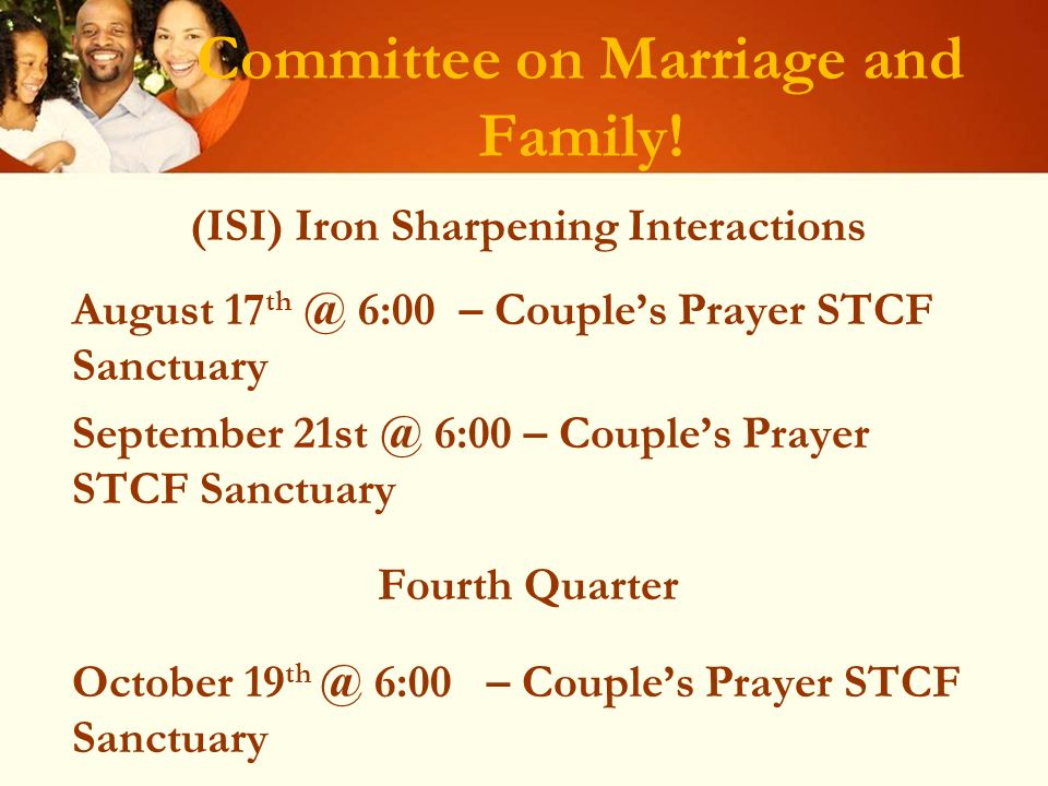 Committee on Marriage and Family.