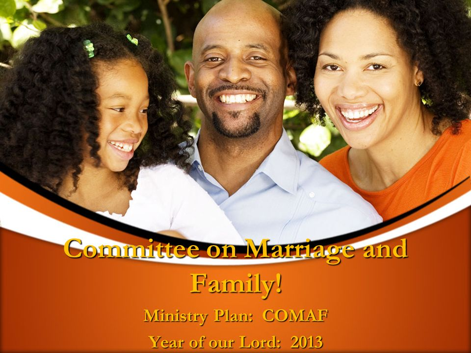 Committee on Marriage and Family! Ministry Plan: COMAF Year of our Lord: 2013