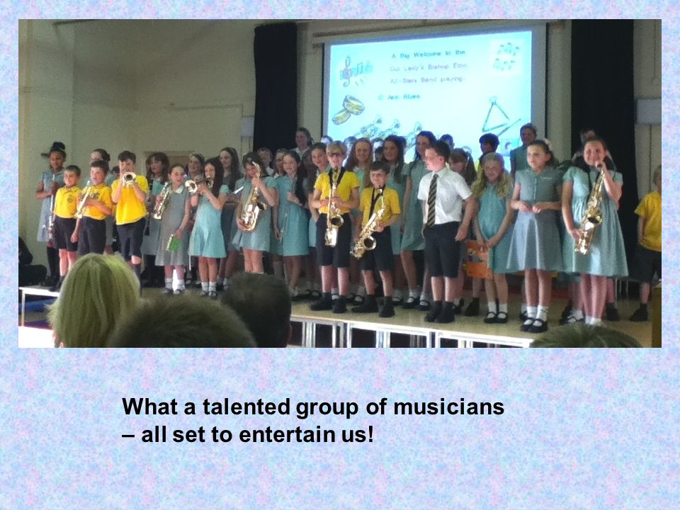 What a talented group of musicians – all set to entertain us!