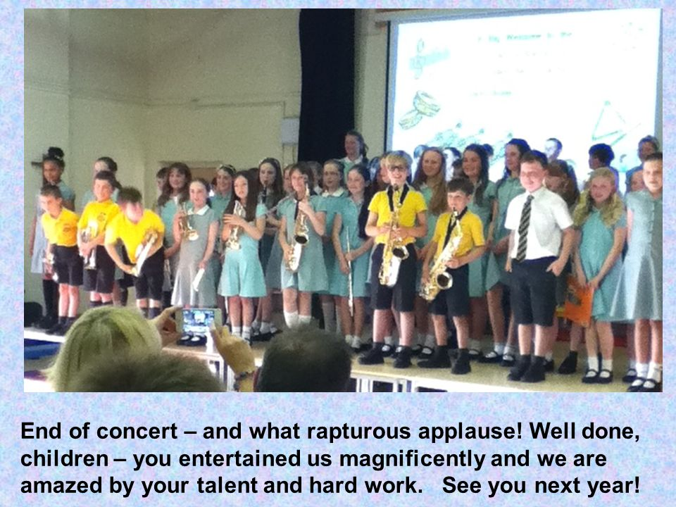 End of concert – and what rapturous applause.